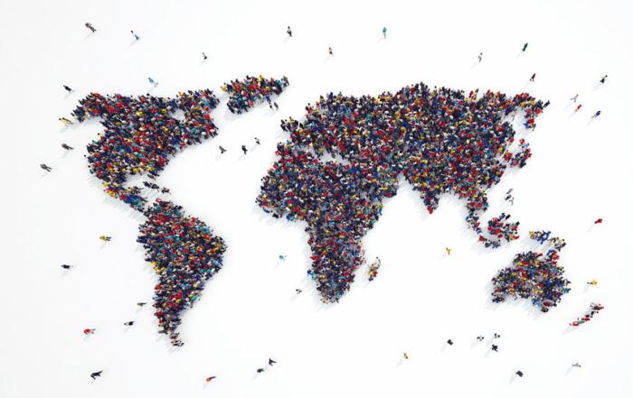 3D rendering of people world